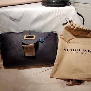 Vintage Burberry Navy clutch a/original dust bag